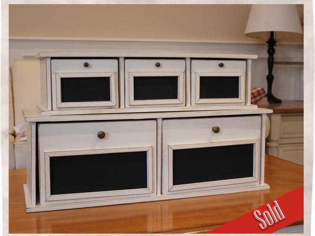 2 Piece Vintage Cabinet