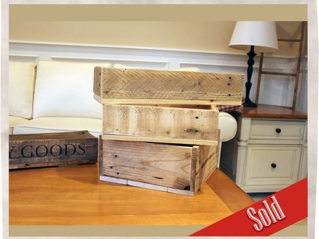 Your own custom vintage crates