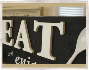 Wooden spoon kitchen sign