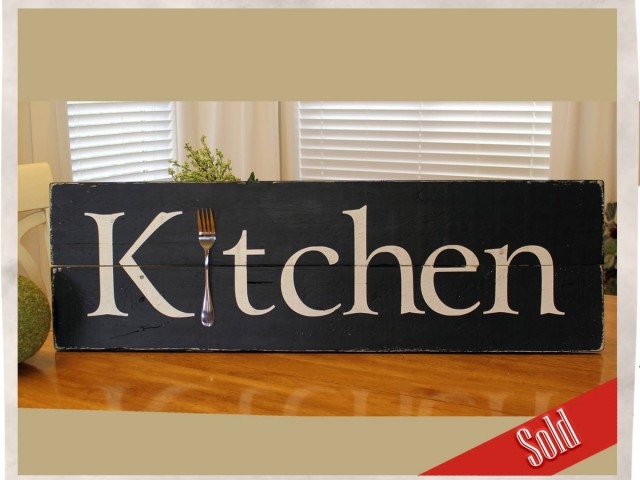 Weathered Kitchen Sign