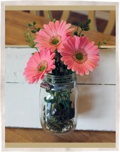 Mason Jar flower sign 2