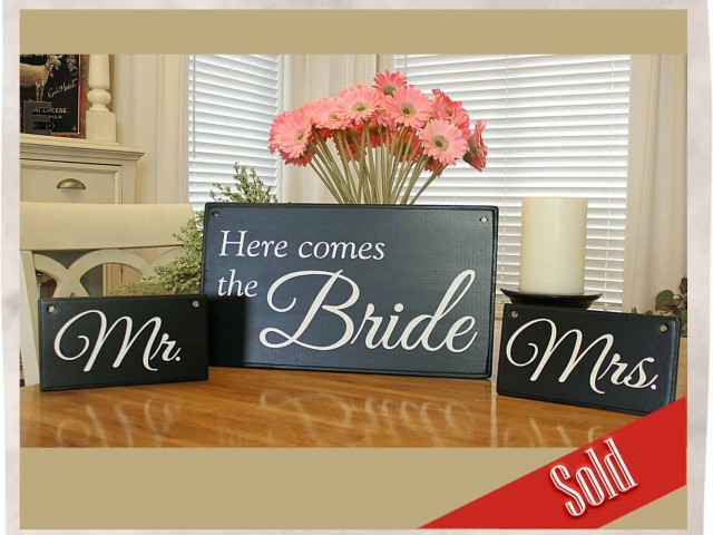 Elegant Wedding Signs (Black)