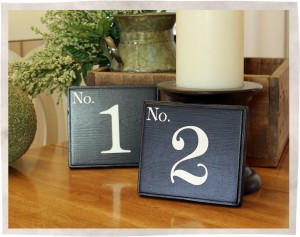 Wooden Wedding table signs black