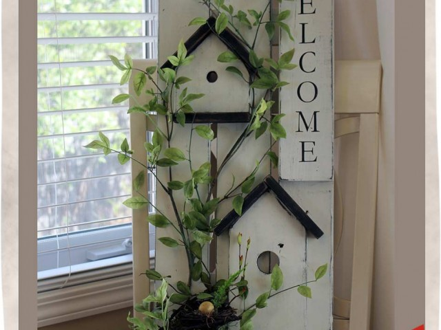 Birdhouse Basket Sign