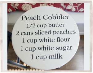 Stool-Peach-Cobbler